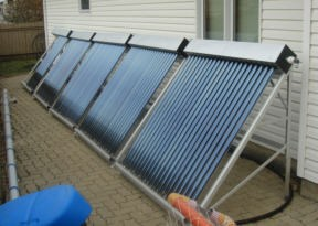 Frame mounted solar collectors.