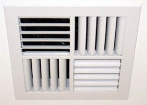 A vent installed with a ducted air conditioner.