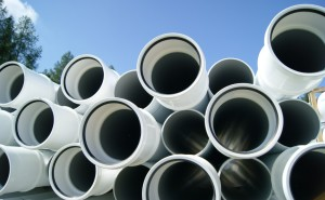 Pipes used in the installation of a solar heating system.