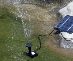 A converted solar water fountain