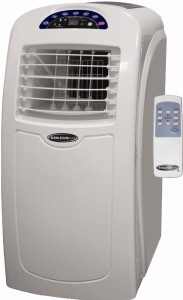 A Soleus evaporative portable air conditioner